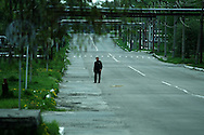 Travel to Chernobyl and Pripyat in the Ukraine, photographs of the after effects of the accident at the Nuclear Power station in 1986.