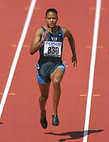 Friidrett: JONES, MARION    USA<br />             Leichtathletik  WM 2001  100m Lauf