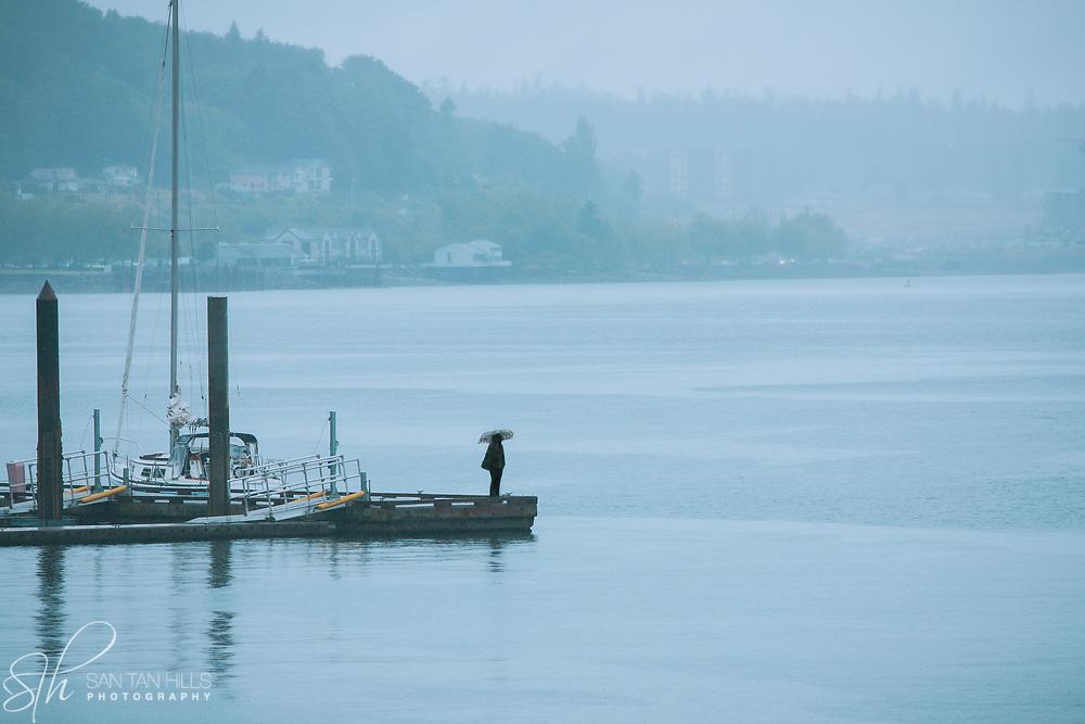 Waiting on a dock in Ruston Way - WA