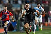 27.09.2014. Israel Dagg on his way to scoring a try. Test Match Argentina vs All Blacks during the Rugby Championship at Estadio Único de la Plata, La Plata, Argentina.