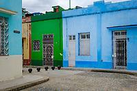 SANTIAGO DE CUBA, CUBA - CIRCA JANUARY 2020: Street of Santiago de Cuba