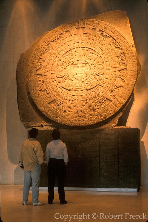 MEXICO, MEXICO CITY, MUSEUM Aztec Culture: the 'Sun or Calendar Stone'