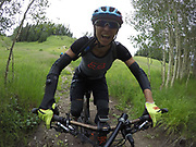 SHOT 8/5/17 1:06:06 PM - GoPro Hero 5 photos while riding Brian Head Resort in Brian Head, Utah with Vesta Lingvyte of Denver, Co. (Photo by Marc Piscotty / © 2017)