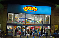 © Licensed to London News Pictures. 02/11/2020.  <br /> Crayford, UK. Due to the second lockdown announcement by Prime Minister Boris Johnson at the weekend the number of Christmas shopping days has been halved. Shoppers on a late night panic buying spree at a Smyths toys superstore in Kent. Photo credit:Grant Falvey/LNP