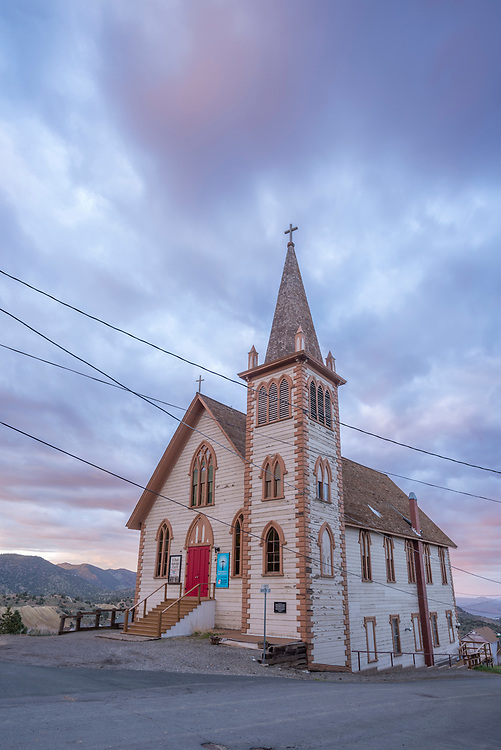 St. Paul's Episcopal Church in the historic mining town of Virginia City, Nevada.