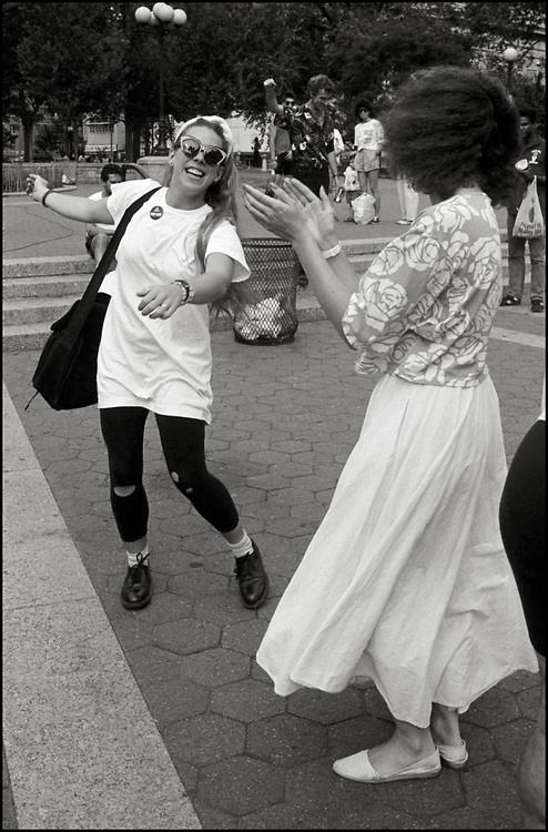 Maria Maggenti dancing in Union Sq. Park in the summer of 1988.