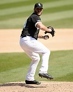 CHICAGO - APRIL 17:  Josh Osich #64 of the Chicago White Sox pitches against the Kansas City Royals on April 17, 2019 at Guaranteed Rate Field in Chicago, Illinois.  (Photo by Ron Vesely)  Subject:   Josh Osich