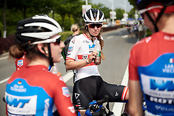 Sarah Rijkes (AUT) recovers after Tour of Chongming Island 2019 - Stage 1, a 102.7 km road race on Chongming Island, China on May 9, 2019. Photo by Sean Robinson/velofocus.com