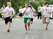Middletown, New York - Runners compete in the children's races after the 15th annual Ruthie Dino Marshall 5K Run and Fun Walk hosted by the Middletown YMCA on Sunday, June 5,  2011.