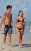 EXCLUSIVE<br /> Justin Bieber's protégé Madison Beer dons stylish black bikini for beach time with fellow musician boyfriend Jack Gilinsky<br /> <br /> They both rose to fame thanks to the Internet. <br /> And on Sunday, Madison Beer and boyfriend Jack Gilinsky enjoyed a New Year's vacation on a Miami beach.<br /> The loved-up cyber stars strolled along the sand and took a dip in a nearby pool.  <br /> <br /> The singer, who as a pre-teen was discovered on YouTube by Justin Bieber, accessorized with multiple items of jewellery including bracelets, a necklace and earrings.<br /> Her fellow musician beau kept it simple with a pair of grey-and-black striped board shorts.  <br /> <br /> Since the early part of 2015, Madison and Vine star Jack have been dating. <br /> ©Jorge Rodriguez/Exclusivepix Media