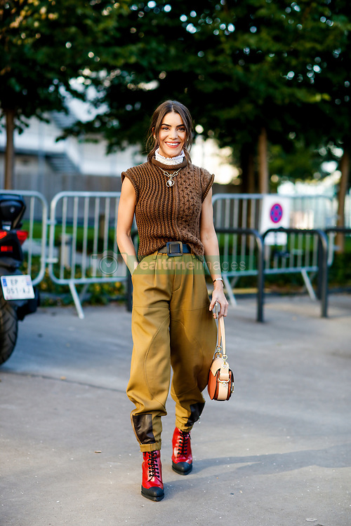 Street style, Camila Coelho arriving at Chloe spring summer 2019 ready-to-wear show, held at Maison de la Radio, in Paris, France, on September 27th, 2018. Photo by Marie-Paola Bertrand-Hillion/ABACAPRESS.COM