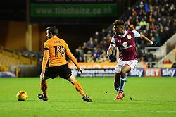 Aaron Tshibola of Aston Villa plays a pass - Mandatory by-line: Dougie Allward/JMP - 14/01/2017 - FOOTBALL - Molineux - Wolverhampton, England - Wolverhampton Wanderers v Aston Villa - Sky Bet Championship