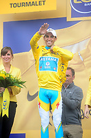 CYCLING - TOUR DE FRANCE 2010 - LA MONGIE (FRA) - 22/07/2010 - PHOTO : VINCENT CURUTCHET / DPPI - <br /> STAGE 17 - PAU > COL DU TOURMALET - ALBERTO CONTADOR (ESP) / ASTANA / YELLOW JERSEY