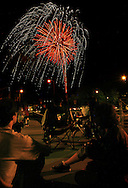 """ÒCommercial Federal Celebrates America"""" fireworks show on July 1st as seen from Univ of Nebraska at Omaha..(photo by chris machian/Prairie Pixel Group)"""