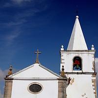 Europe, Portugal, Obidos. Santa Maria Church in Obidos.
