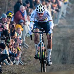 2020-01-01 Cycling: dvv verzekeringen trofee: Baal: Mathieu van der Poel on his way to his 17th victory of the season