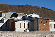 Flamingos can be found in many of the lakes in the Bolivian Altiplano - these ones are in the rather windswept Laguna Hedionda, where there is a small collection of buildings, including this hostel.