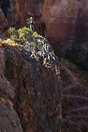 Grand Canyon National Park, South Rim, Bright Angel Trail, young photographer, Arizona