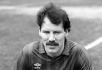 Jim Campbell, footballer, Ards FC, March 1986,  19860302JC<br /> <br /> Copyright Image from Victor Patterson, 54 Dorchester Park, <br /> Belfast, UK, BT9 6RJ<br /> <br /> t1: +44 28 9066 1296 (from Rep of Ireland 048 9066 1296)<br /> t2: +44 28 9002 2446 (from Rep of Ireland 048 9002 2446)<br /> m: +44 7802 353836<br /> <br /> e1: victorpatterson@me.com<br /> e2: victorpatterson@gmail.com<br /> <br /> www.victorpatterson.com<br /> <br /> Please see my Terms and Conditions of Use at VICTORPATTERSON.COM. It is IMPORTANT that you familiarise yourself with them.<br /> <br /> Images used on the Internet must be visibly watermarked i.e. ©VICTORPATTERSON.COM within the body of the image and copyright metadata must not be deleted. Images used on the Internet have a size restriction of 4kbs and are chargeable at the then current NUJ rates.<br /> <br /> This image is only available for the use of the download recipient i.e. television station, newspaper, magazine, book publisher, etc, and must not be passed on to any third party. It is also downloaded on condition that each and every usage is notified within 7 days to victorpatterson@me.com<br /> <br /> The right of Victor Patterson to be identified as the author is asserted in accordance with The Copyright Designs And Patents Act (1988).