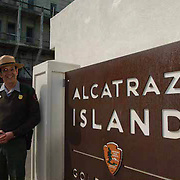 Jayeson Vance, National Park ranger stationed at the famous prison known as Alcatraz, part of the US National Park system.