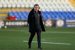 Saracens Director of Rugby Mark McCall during the pre-match warm up - Mandatory by-line: Nick Browning/JMP - 26/02/2021 - RUGBY - Butts Park Arena - Coventry, England - Coventry Rugby v Saracens - Friendly