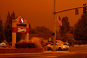 Keizer under smoke from the 2020 Oregon wildfires.