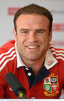 31 May 2013; Jamie Roberts, British & Irish Lions, during a press conference ahead of their game against Barbarian FC on Saturday. British & Irish Lions Tour 2013, Press Conference, Grand Hyatt Hotel, Hong Kong, China. Picture credit: Stephen McCarthy / SPORTSFILE