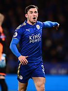 Ben Chilwell of Leicester city looks on. .Premier league match, Leicester City v Tottenham Hotspur at the King Power Stadium in Leicester, Leicestershire on Tuesday 28th November 2017.<br /> pic by Bradley Collyer, Andrew Orchard sports photography.
