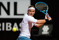 May 16, 2019 - Rome, ITALY - Dominika Cibulkova of Slovakia in action during her second-round match at the 2019 Internazionali BNL d'Italia WTA Premier 5 tennis tournament (Credit Image: © AFP7 via ZUMA Wire)