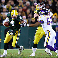 .The Green Bay Packers hosted the Minnesota Vikings in Monday Night Football at Lambeau Field in Green Bay, WI Monday November 21, 2005. WSJ/Steve Apps