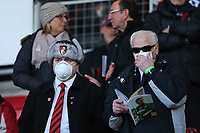 Football - 2019 / 2020 Premier League - AFC Bournemouth vs. Chelsea<br /> <br /> Bournemouth fans wearing face masks to try and guard against the spread of Coronavirus at the Vitality Stadium (Dean Court) Bournemouth <br /> <br /> COLORSPORT/SHAUN BOGGUST