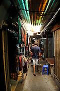 Tourists wandering through market. Vung Tau, Vietnam