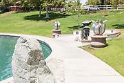 Sculptures at Temecula Duck Pond Park