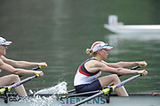 Bled, SLOVENIA,  GBR LW2X, Bow, Steph CULLUN and Andrea DENNIS, winning their semi final, lightweight women's double sculls, on the second day of the FISA World Cup, Bled. Held on Lake Bled.  Saturday  29/05/2010  [Mandatory Credit Peter Spurrier/ Intersport Images] Cop last event as international level.