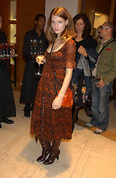 """Burberry model BEN GRIMES at a party hosted by Christopher Bailey to celebrate the launch of """"The Snippy World of New Yorker Fashion Artist Michael Roberts"""" held at Burberry, 21-23 New Bond Street, London on 20th September 2005.<br /><br />NON EXCLUSIVE - WORLD RIGHTS"""