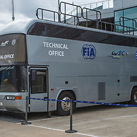 FIA WEC technical bus at FIA WEC 6 Hours of Silverstone 2017, Silverstone International Circuit, on 13.04.2017