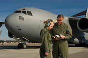 U.S. Air Force loadmasters conduct a preflight checklist during engine start up...Air Force aircraft transport most of the supplies and military equipment to the combat zone. Specialists must weigh, sort and load all of the gear before it heads to its location abroad. Air Force loadmasters and pilots ensure the safe transport of all equipment required in the field.
