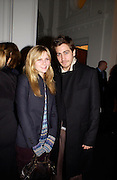 Kirsten Dunst,  Jake Gyllenhaal at Giorgio Armani, ' A retrospective' sponsored by Mercedes, Royal Academy, 14 October 2003. © Copyright Photograph by Dafydd Jones 66 Stockwell Park Rd. London SW9 0DA Tel 020 7733 0108 www.dafjones.com