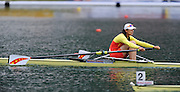 Bled, SLOVENIA,  CHN M1X, Semi finals,Bin TANG, winning her semi final, in the women's single sculls at the  FISA World Cup, Bled. Held on Lake Bled.  Saturday  29/05/2010  [Mandatory Credit Peter Spurrier/ Intersport Images].Crew