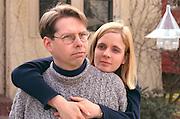Portrait of a thoughtful couple age 30.  St Paul Minnesota USA