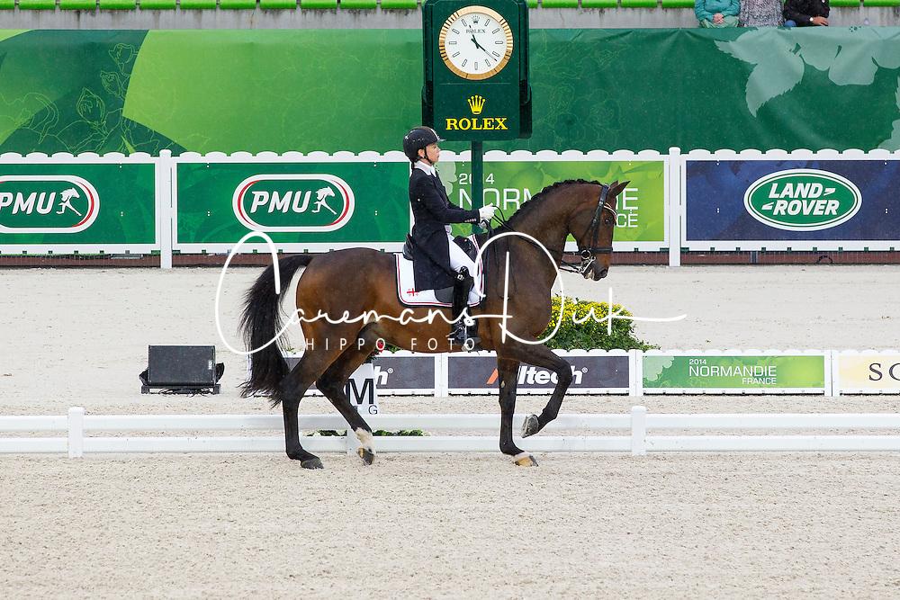Joanne Vaughan, (GEO), Elmegardens Marquis - Grand Prix Team Competition Dressage - Alltech FEI World Equestrian Games™ 2014 - Normandy, France.<br /> © Hippo Foto Team - Leanjo de Koster<br /> 25/06/14