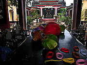 Vietnam, Hoi An:traditional in a pagoda.