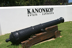 Feb 27, 2006; Stellenbosch, SOUTH AFRICA; Kanonkop Winery in Stellenbosch, South Africa. Stellenbosch is the capital of the Cape Winelands and was the second town to be founded in South Africa in 1685. A main tourist attraction of the Western Cape, Stellenbosch boosts over 200 estates that offer wine tastings (Credit Image: © Krista Kennell/ZUMAPRESS.com)