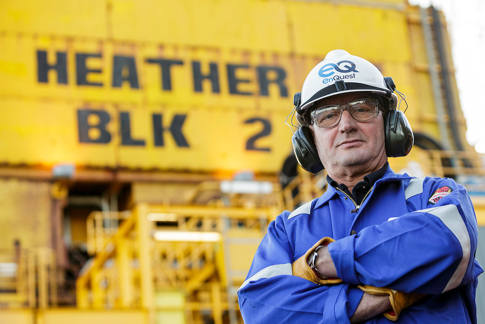 Monday 13th October 2014, Heather Platform, Northern North Sea.  EnQuest holds 100% interest in Heather and is the operator. EnQuest has made significant investment in the platform through its large scale infrastructure enhancement programme to extend the field life of the Heather platform to around 2030.<br /> <br /> <br /> (Photo: Ross Johnston/NewslineMedia)