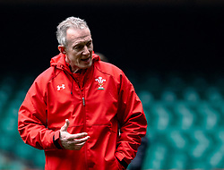 Attacking Coach Rob Howley of Wales <br /> <br /> Photographer Simon King/Replay Images<br /> <br /> Six Nations Round 3 - Captains Run - Wales v England - Saturday 22nd February 2019 - Principality Stadium - Cardiff<br /> <br /> World Copyright © Replay Images . All rights reserved. info@replayimages.co.uk - http://replayimages.co.uk