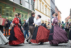"Members of Academic folklore dance group ""Student""  during martinovanje, St. Martin's Day Celebration on November 11, 2019 in Maribor, Slovenia. Photo by Milos Vujinovic / Sportida"