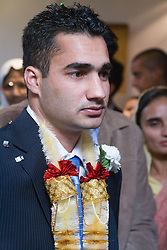 Portrait of groom before for his wedding,