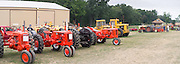 Antique and old tractors are on display the Rock River Thresheree near Edgerton, Wisconsin. 2 Sept 2013