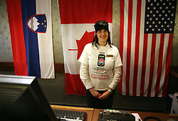 A girl in a Citadel hotel reception, where are Slovenian and USA ice hockey teams placed. Welcome in Canada at IIHF World Championship 2008,  on May 01, 2008, Halifax, Canada.  (Photo by Vid Ponikvar / Sportal Images)