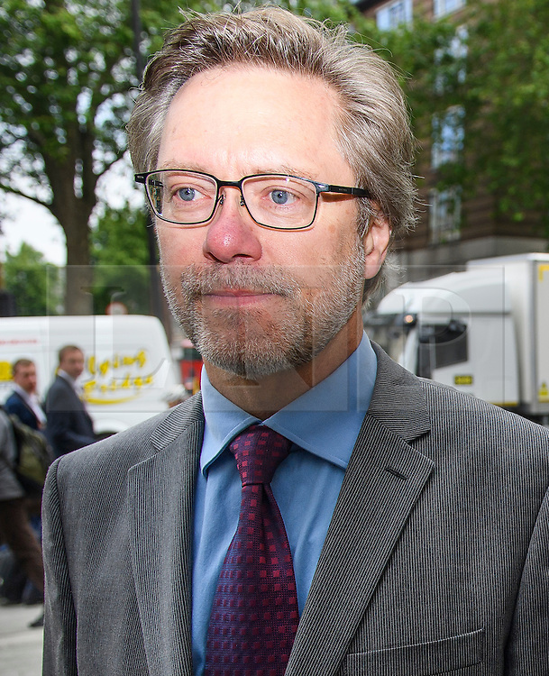 © Licensed to London News Pictures. 09/06/2016. London, UK. JOHN LETTS, (55)  arrive at Westminster Magistrates Court in London where he and his partner Sally Lane face terrorism charges. John Letts and Sally Lane are accused of trying to send money to their son, Jack Letts, AKA 'Jihadi Jack' who is suspected of supporting ISIS after he fled to Syria in 2014 aged 18.  Photo credit: Ben Cawthra/LNP